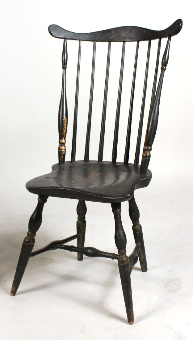 Green-Painted Bow-Back Windsor Side Chair - 6