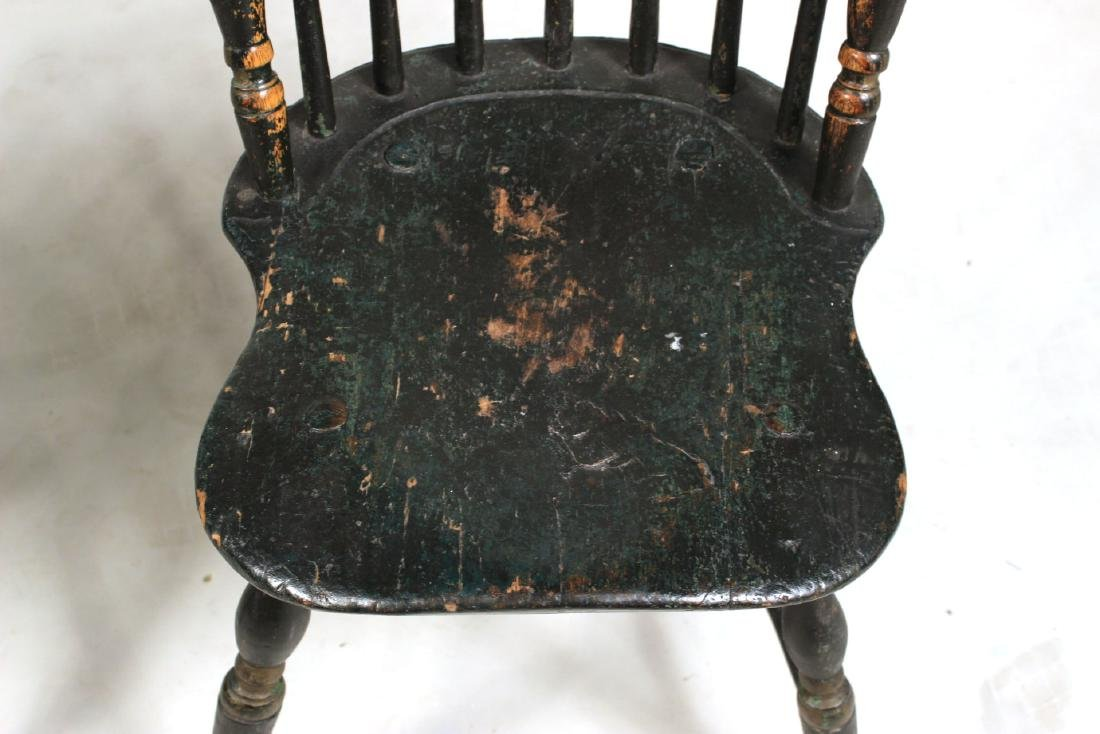 Green-Painted Bow-Back Windsor Side Chair - 8