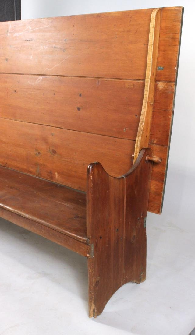 Pine Tilt-Top Settle Table - 10