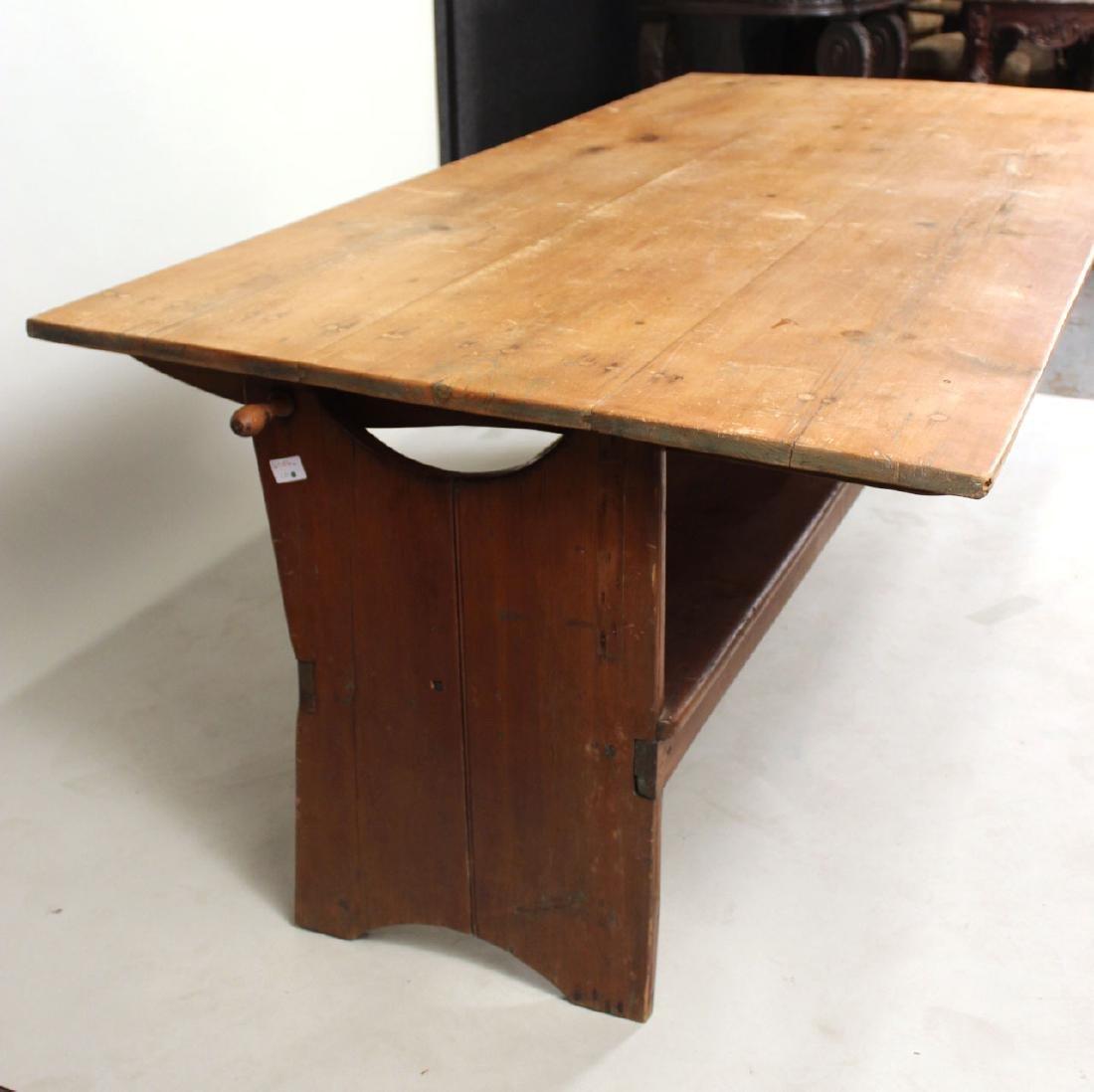 Pine Tilt-Top Settle Table - 3
