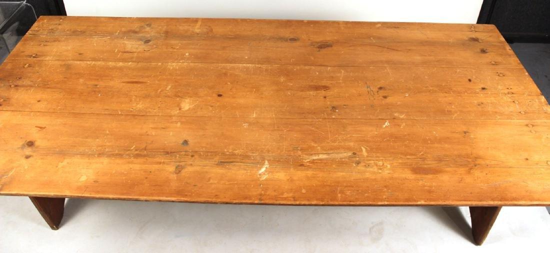 Pine Tilt-Top Settle Table - 4