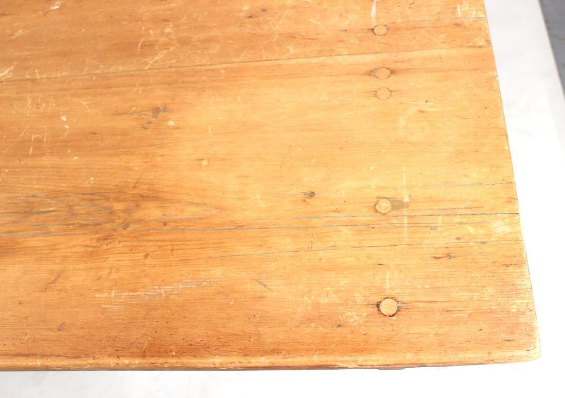 Pine Tilt-Top Settle Table - 5