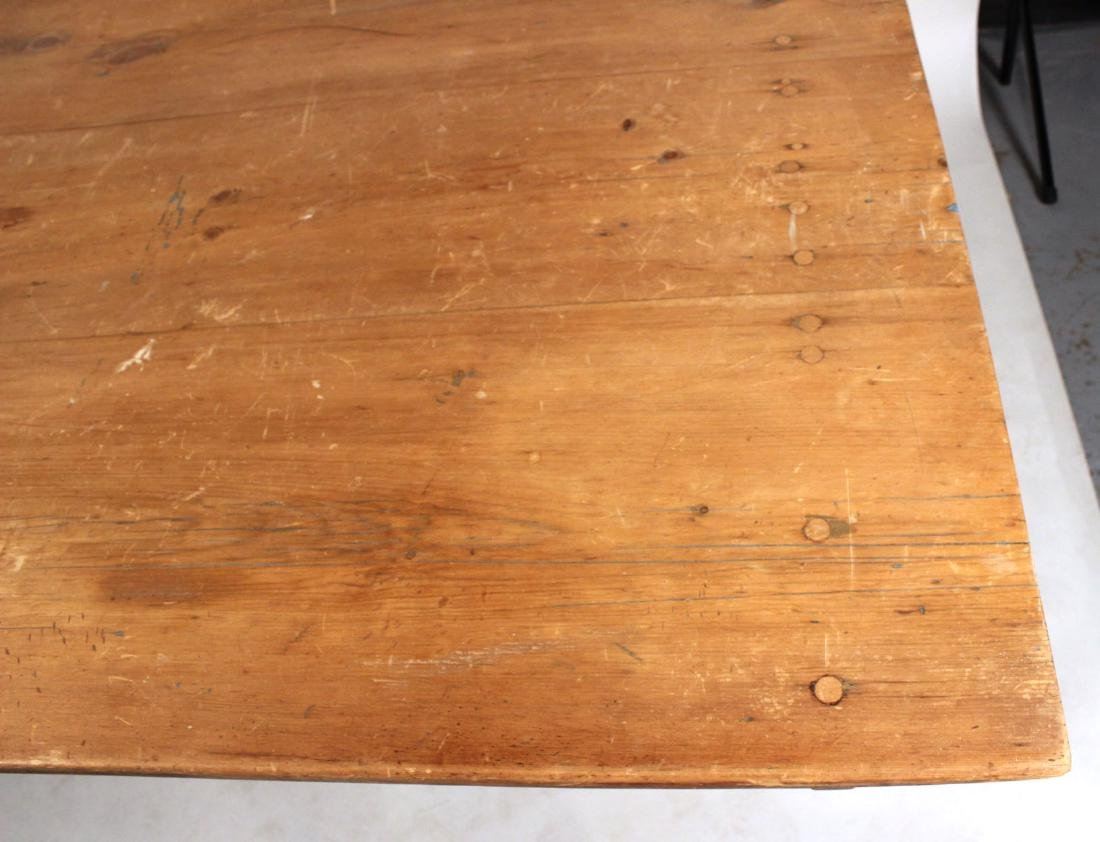 Pine Tilt-Top Settle Table - 6