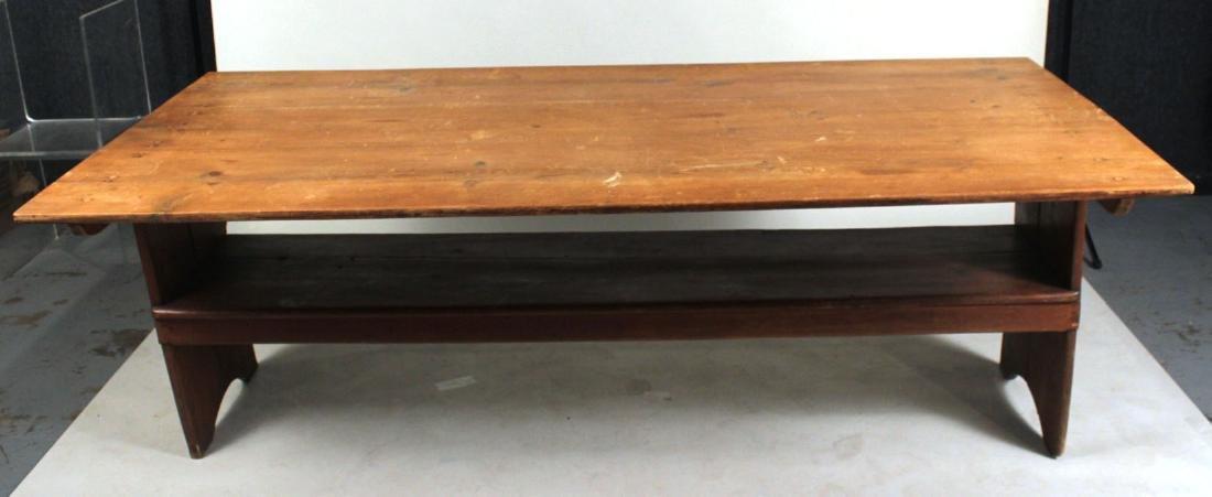 Pine Tilt-Top Settle Table - 7