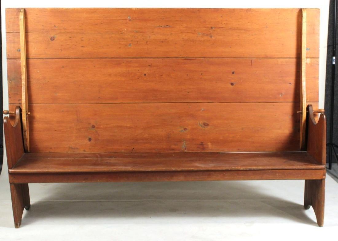 Pine Tilt-Top Settle Table - 8
