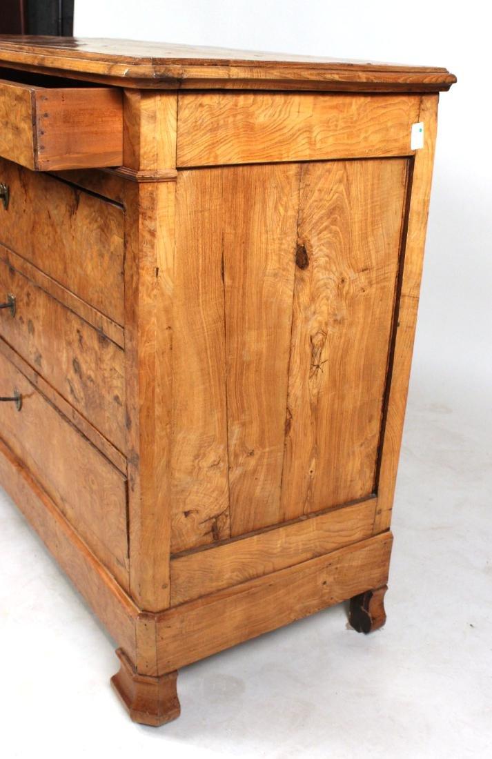 Biedermeier Figured Walnut Chest of Drawers - 6