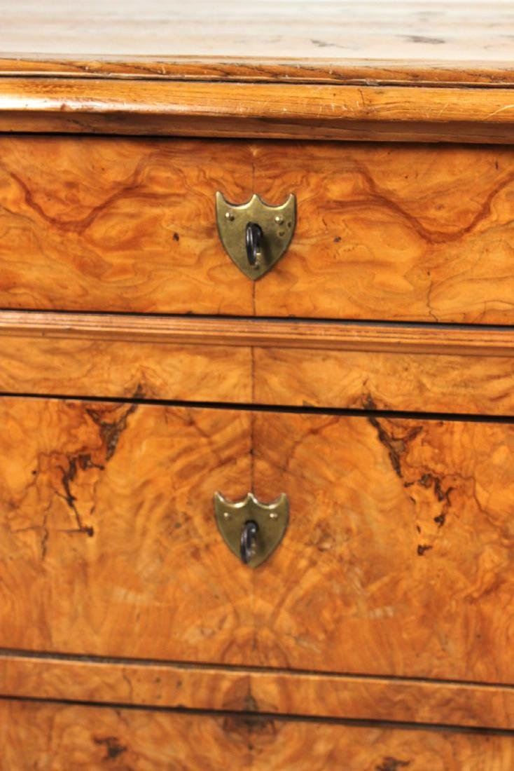 Biedermeier Figured Walnut Chest of Drawers - 7