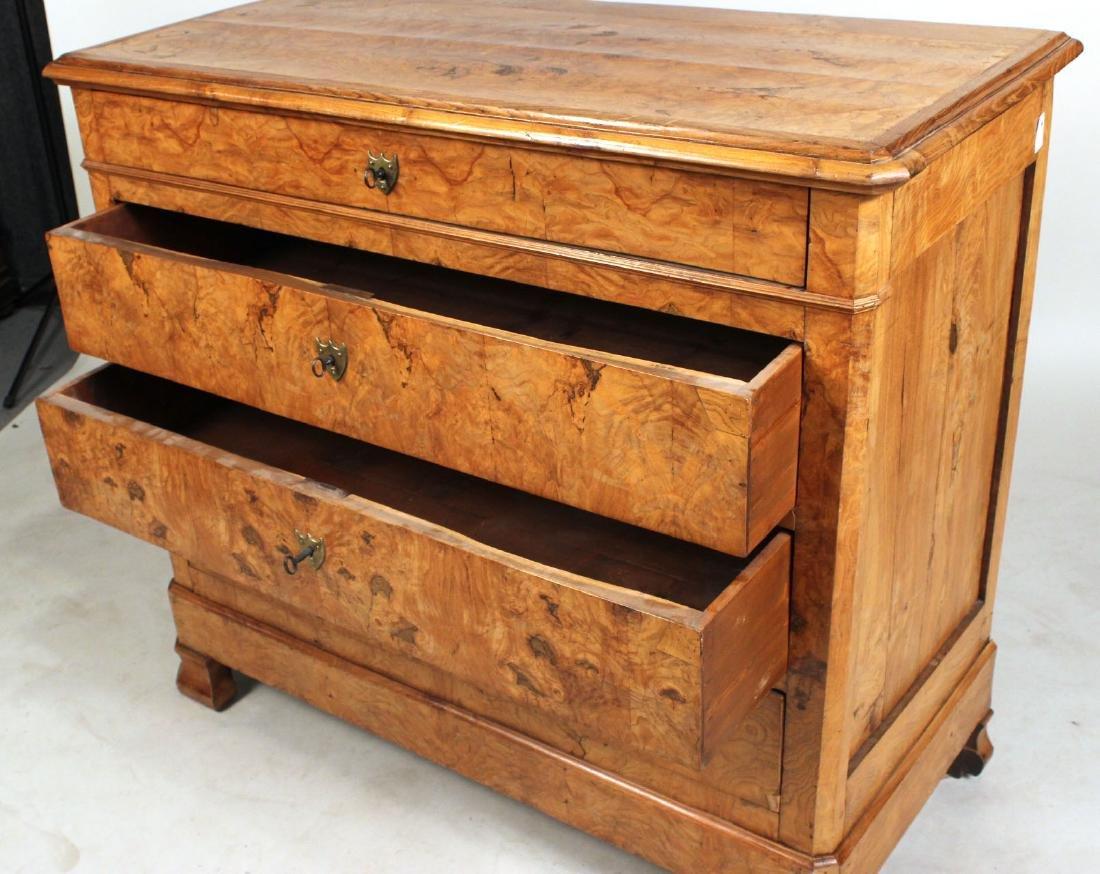 Biedermeier Figured Walnut Chest of Drawers - 8