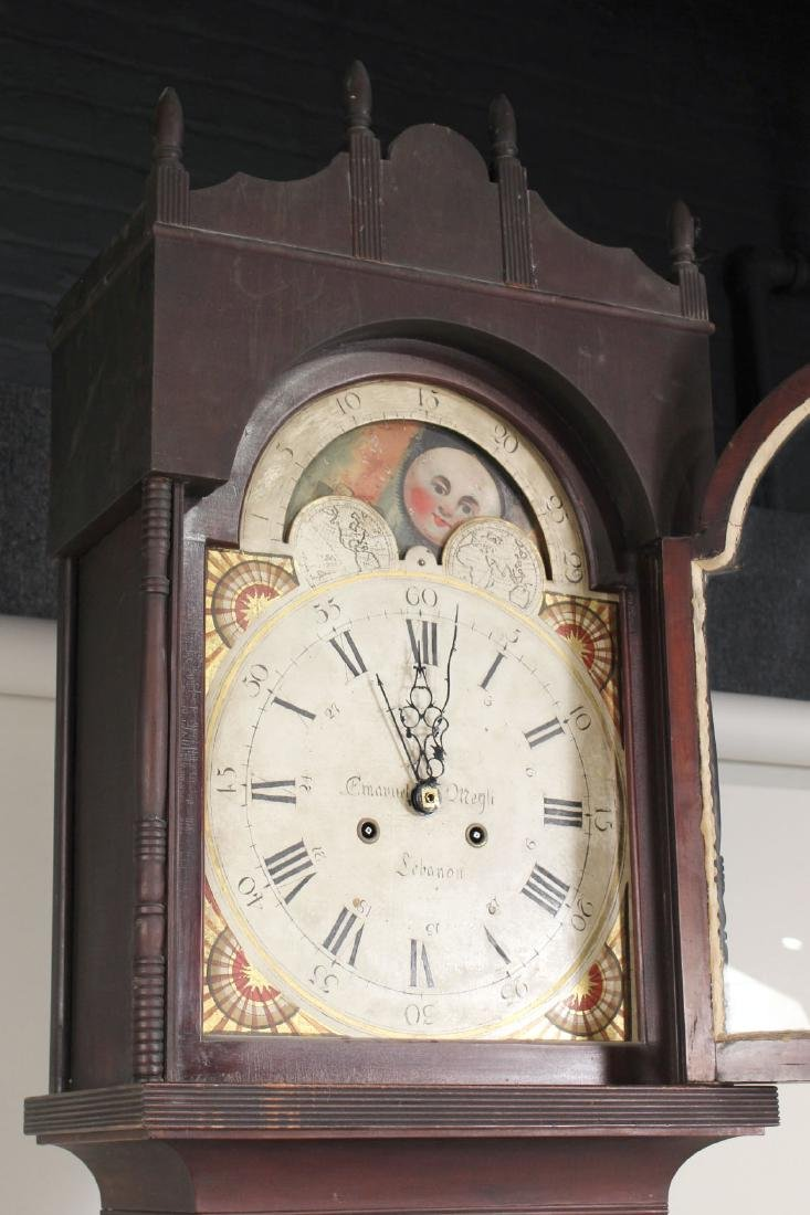Empire Cherrywood Tall Case Clock - 10