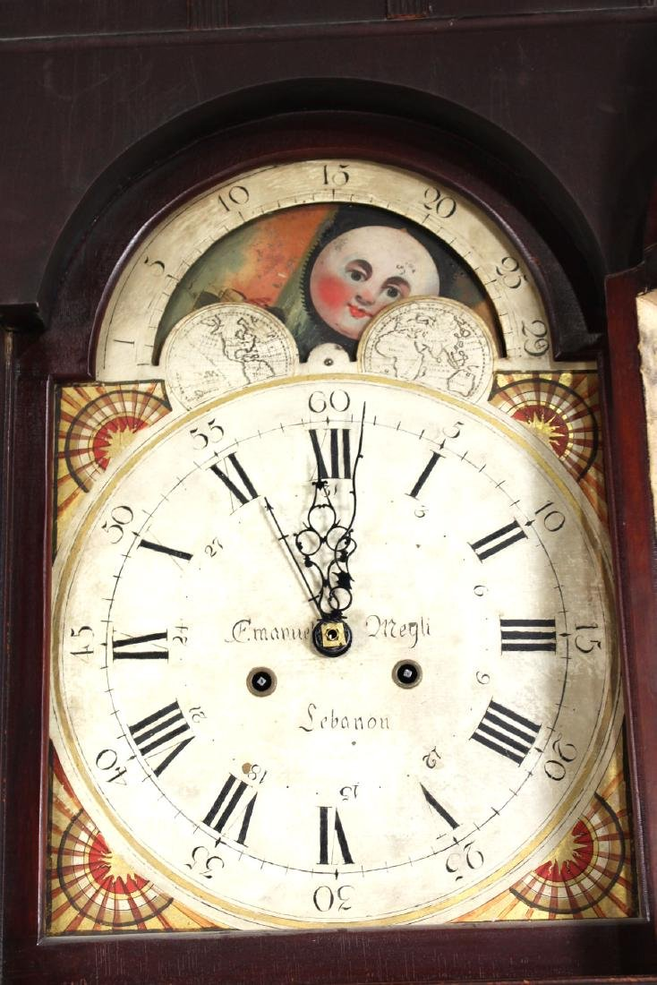 Empire Cherrywood Tall Case Clock - 7