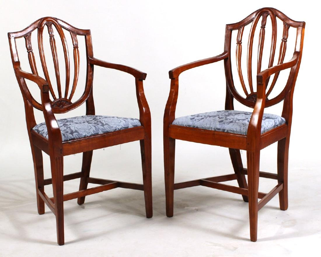Pair of Federal Style Cherrywood Armchairs