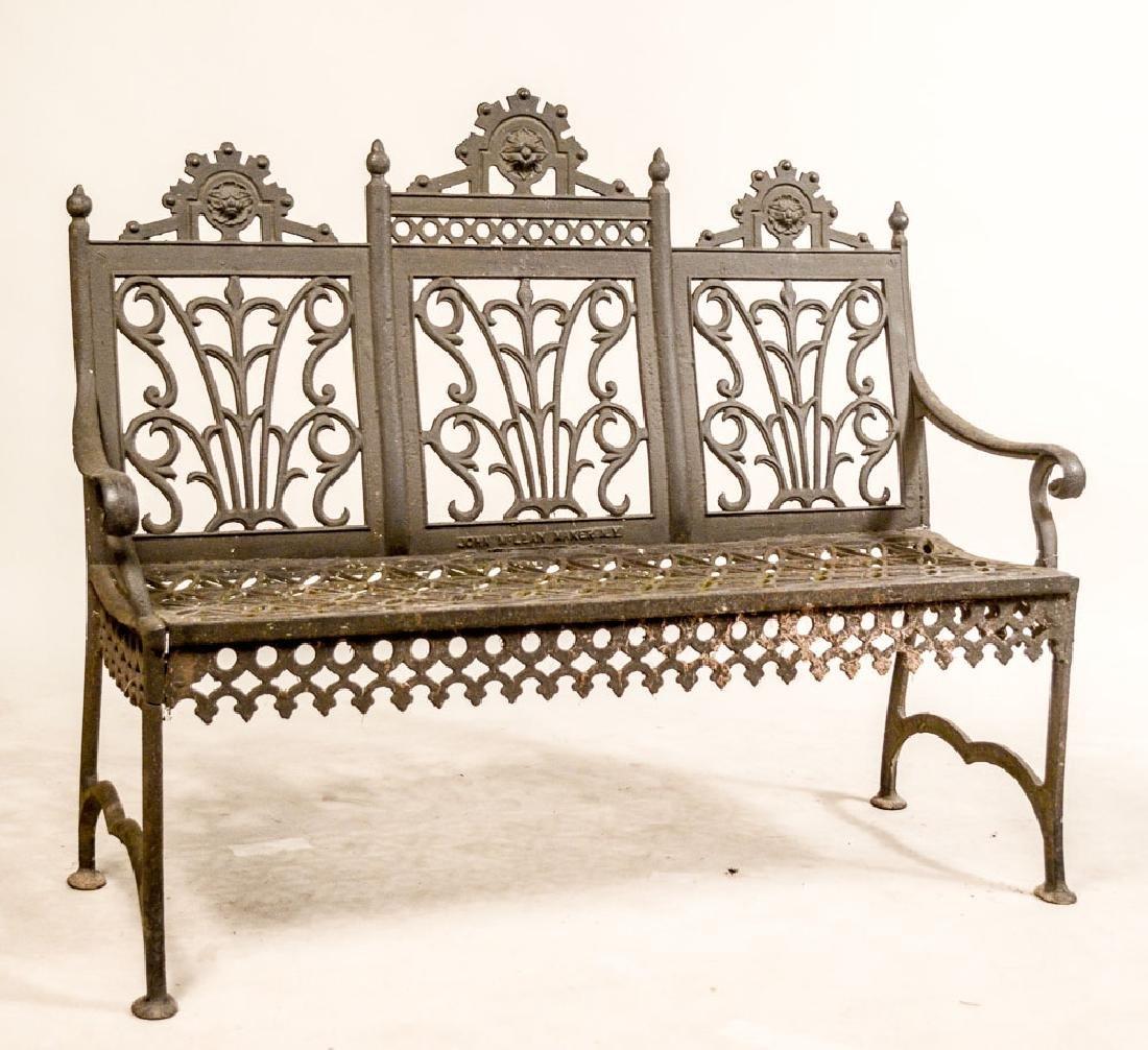 Cast-Iron Garden Bench