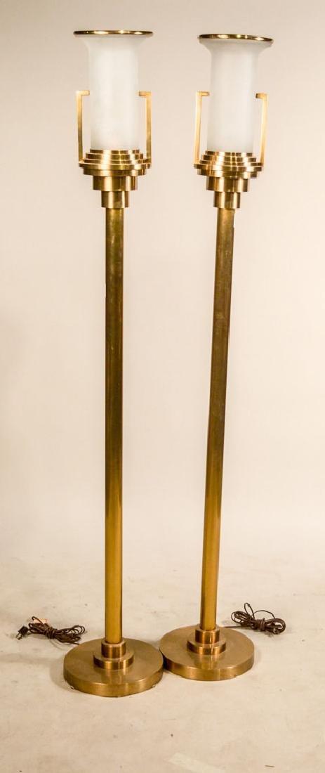 Pair of Modern Brass Torcheres