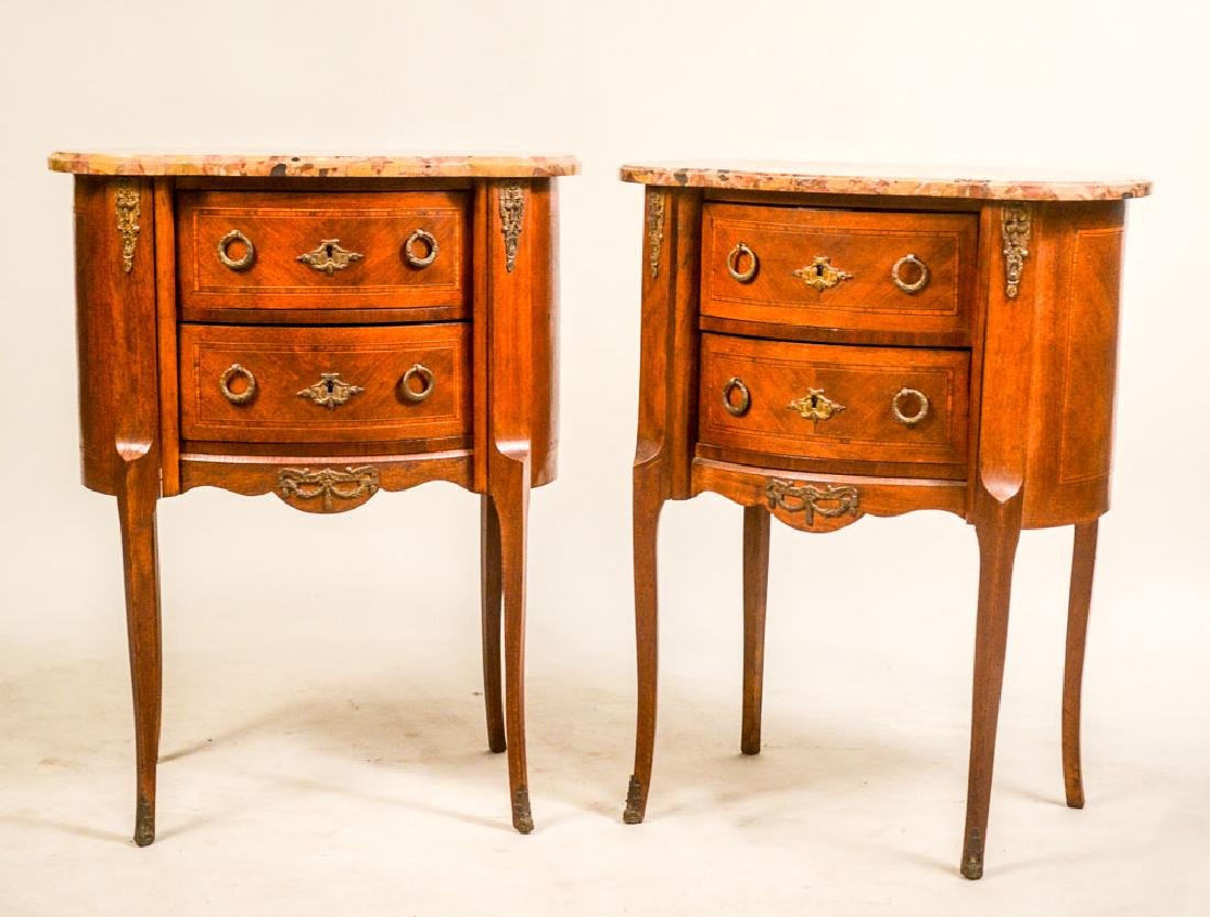Pair of Transitional Louis XVI Occasional Tables