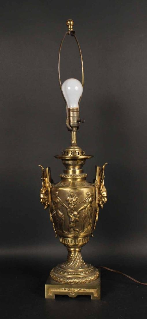Classical Style Cast-Bronze Urn-Form Lamp