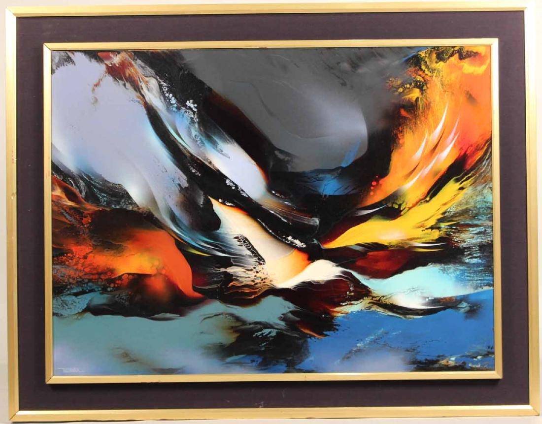 Oil on Board, Leonardo Nerman, Abstract