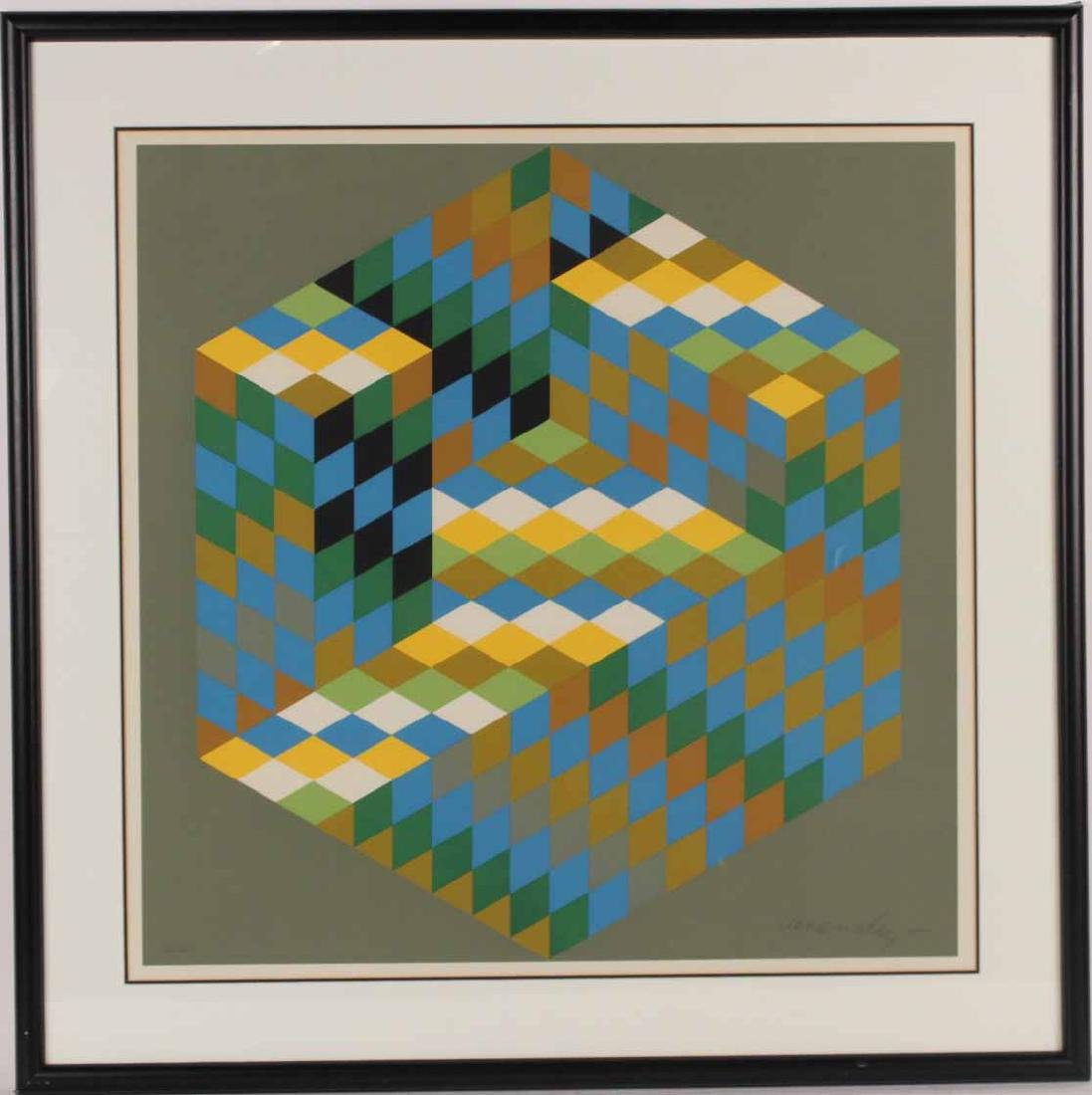 Square Silkscreen, Victor Vasarely