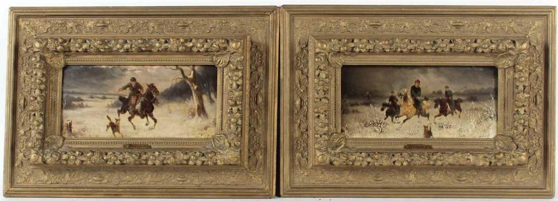 Two Oil on Board Landscapes, J. OrLoff