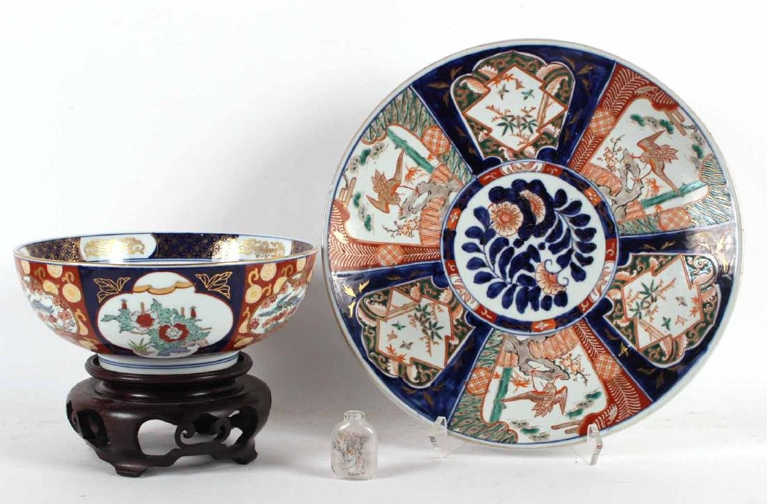 Chinese Export Charger and Bowl
