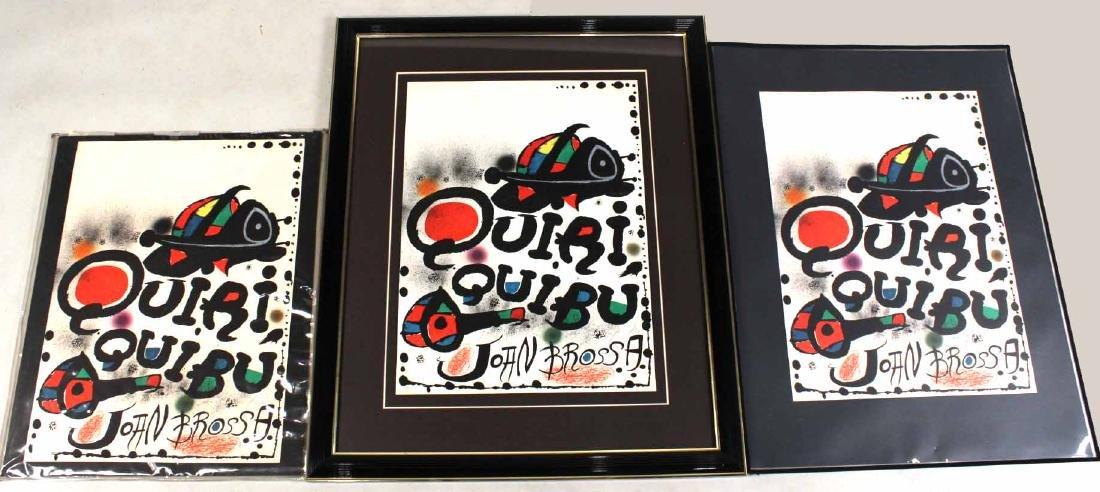 """Three Lithographs, """"Quiri Quibu"""" Joan Miro"""
