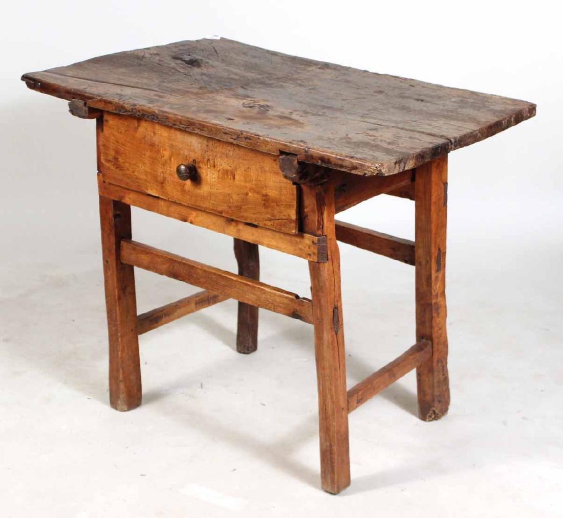 Baroque Spanish Walnut One-Drawer Table