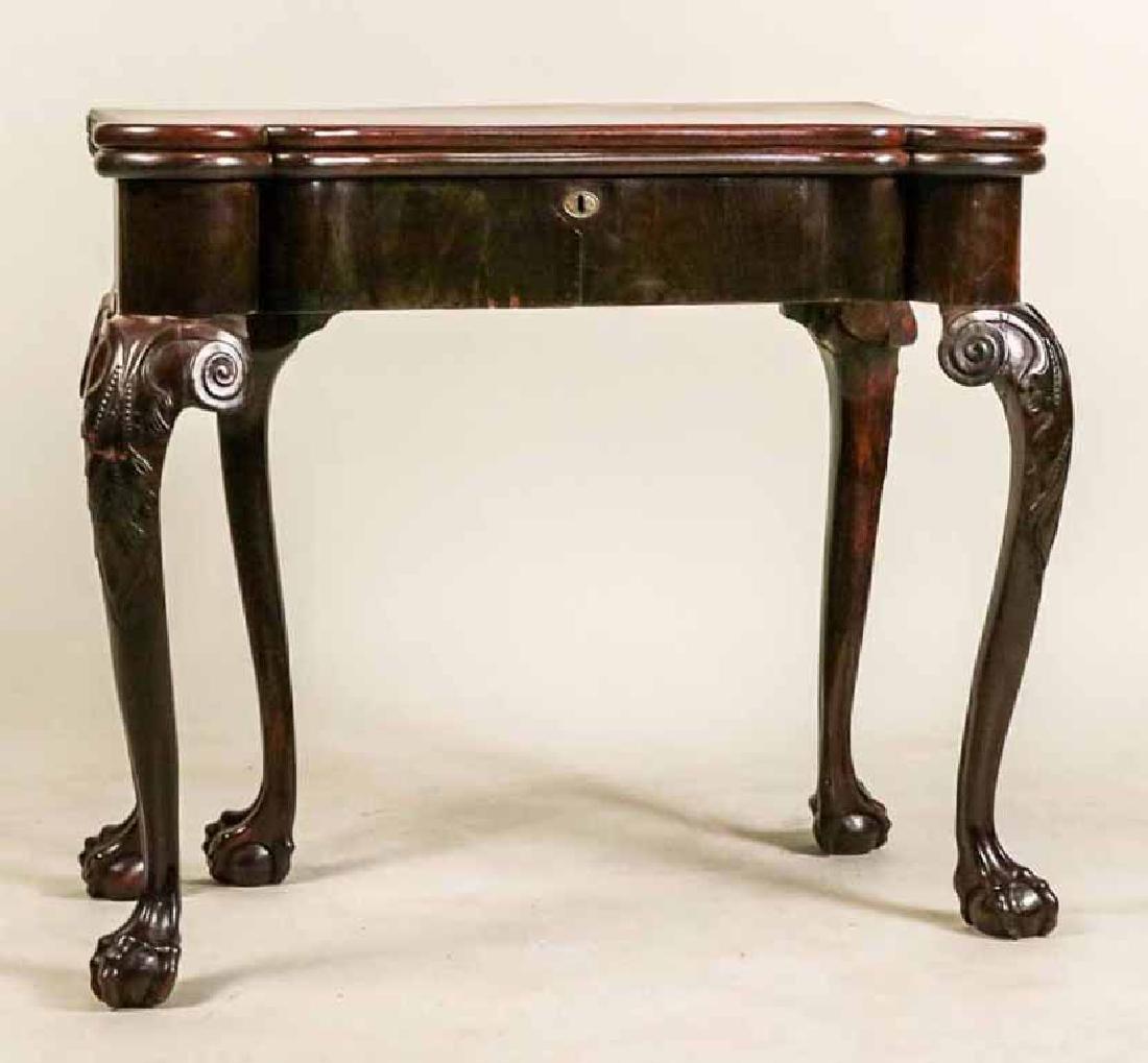 George II Mahogany Turret-Top Card Table
