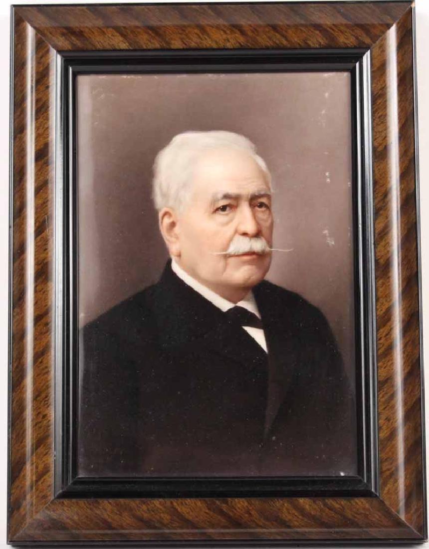 KPM Painted Porcelain Plaque, General Hindenburg