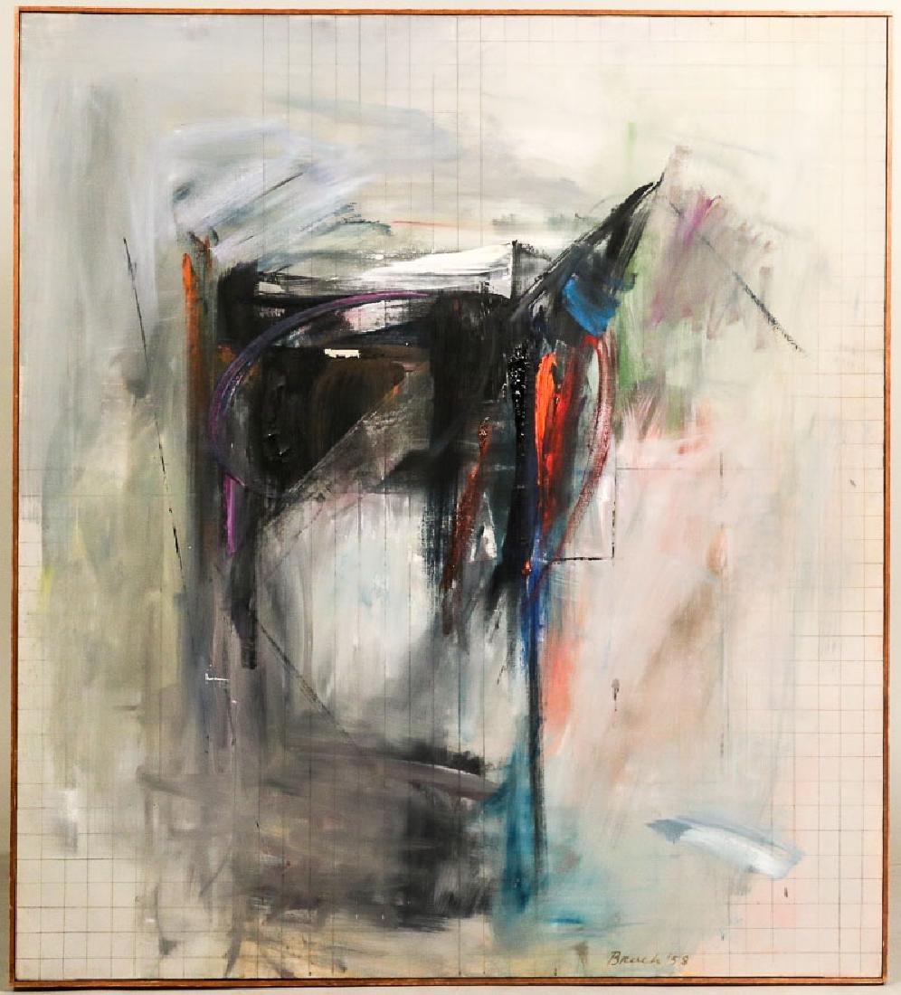"""Oil on Canvas, """"Chamber,"""" Paul Brach"""