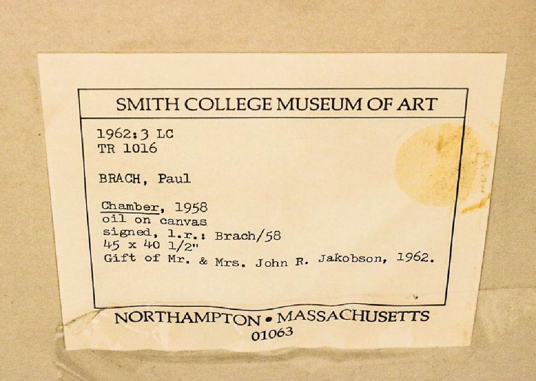 """Oil on Canvas, """"Chamber,"""" Paul Brach - 4"""