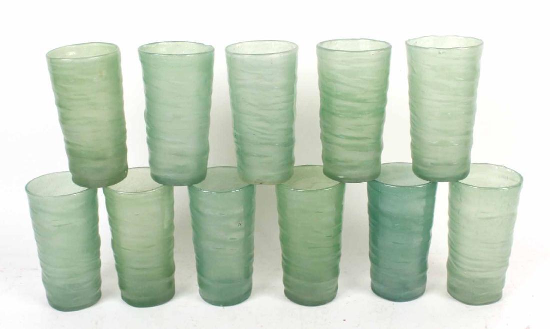 Eleven Art Deco Highball Glasses