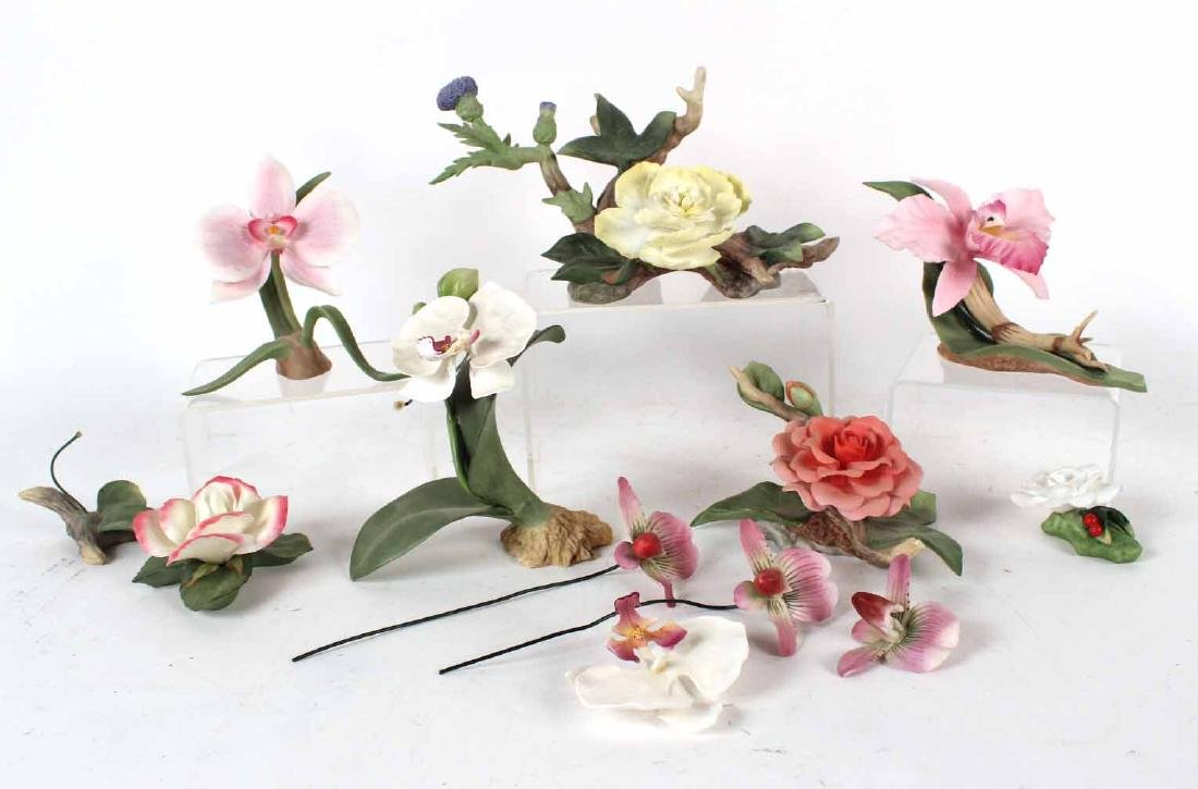 Group of Boehm Porcelain Flowers