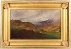 Oil on Canvas Bucolic Landscape