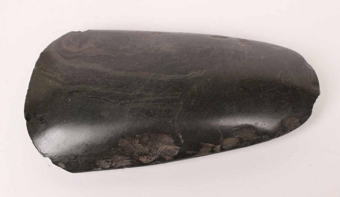 Solomon Island Carved Stone Axe Head