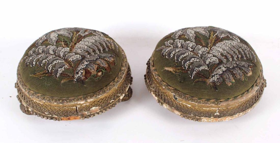 Pair of Victorian Beaded Footstools