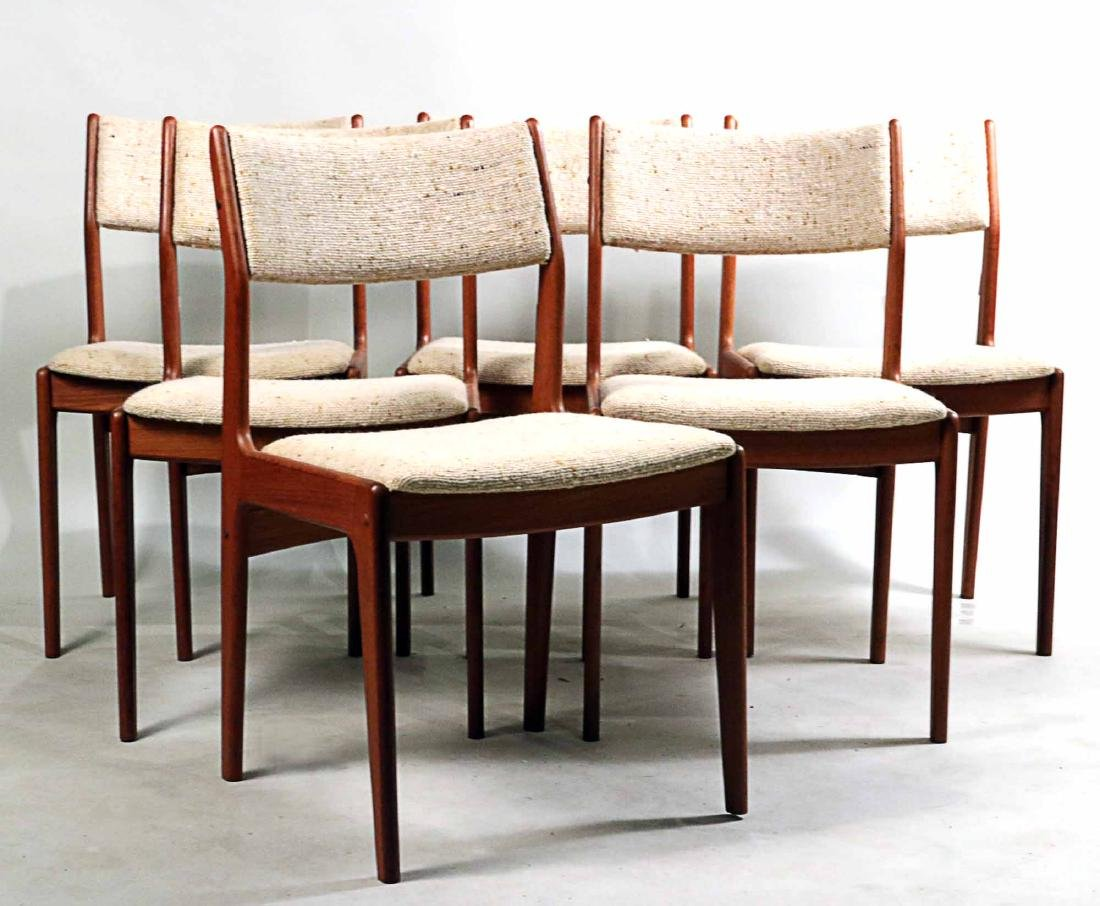 Six Danish Modern Teak Dining Chairs