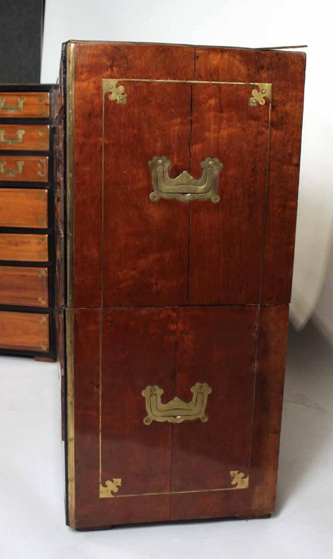 Pair of Regency Brass-Bound Campaign Chests - 3