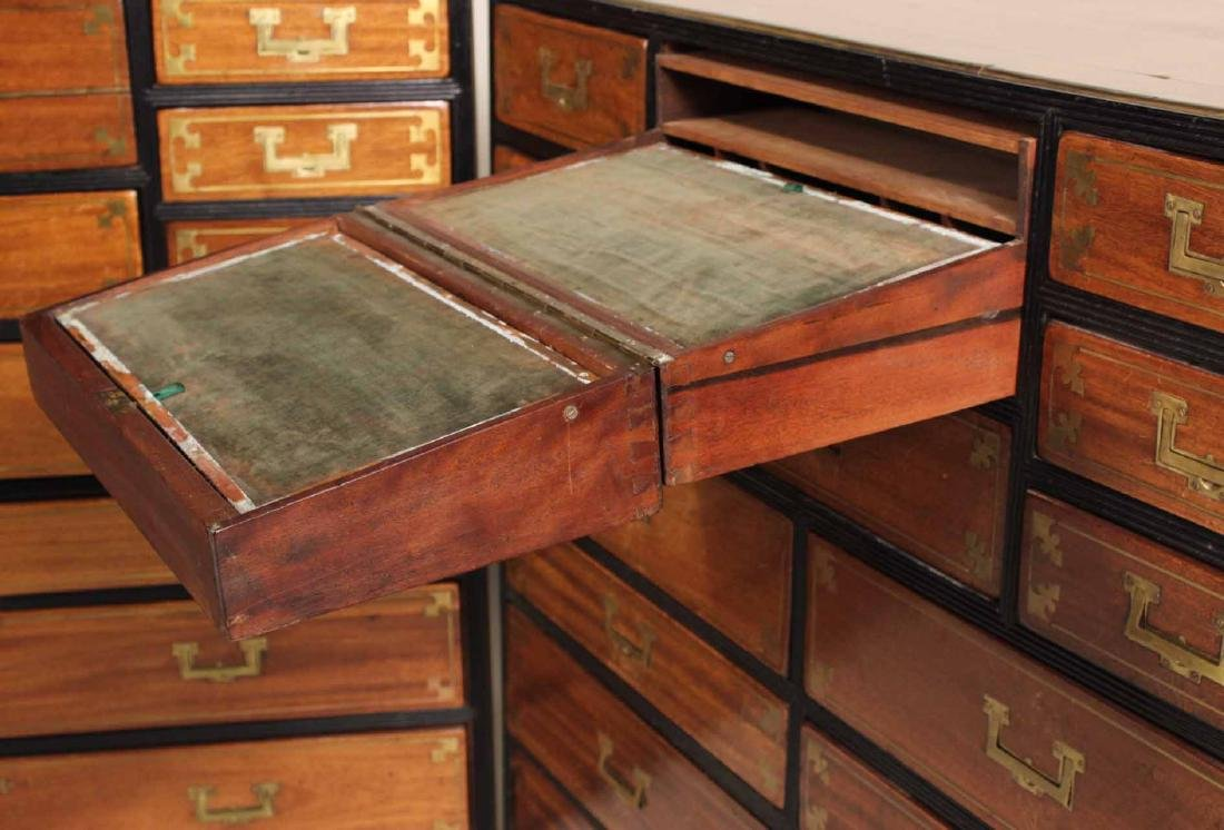 Pair of Regency Brass-Bound Campaign Chests - 8