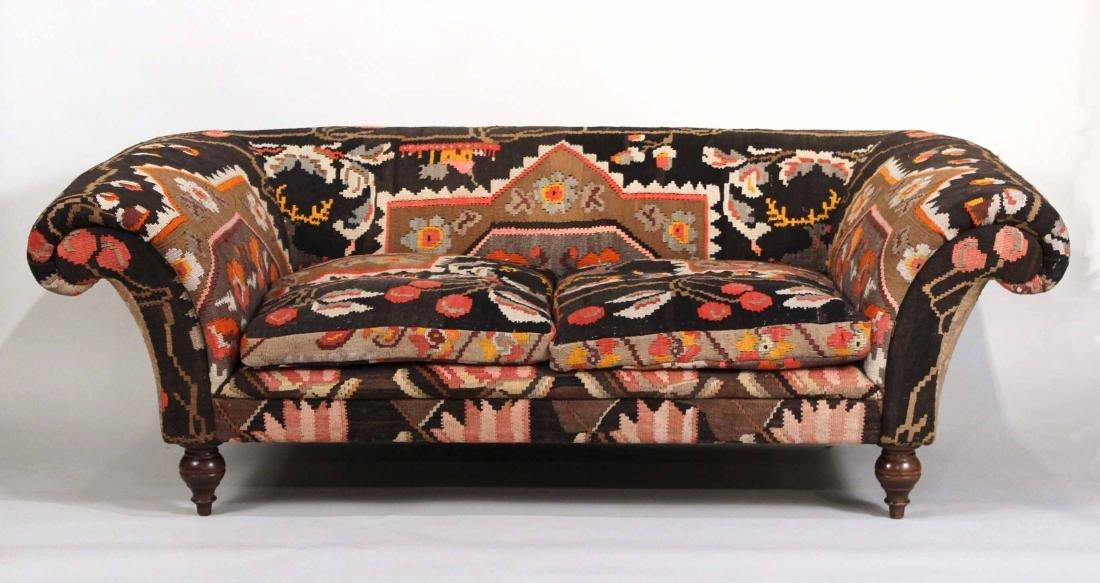 George Smith Kilim Upholstered Sofa