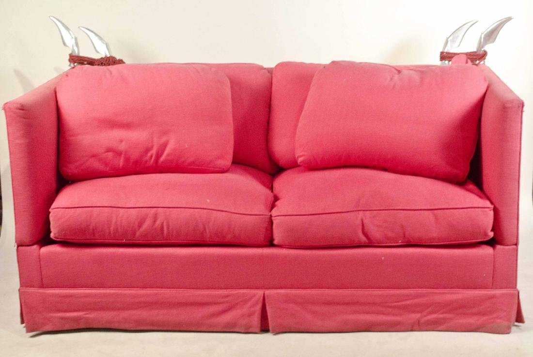 Red De Angelis Knole Sofa