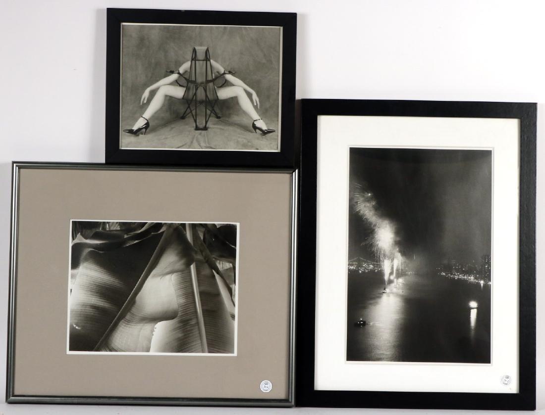 Three Black and White Photographs