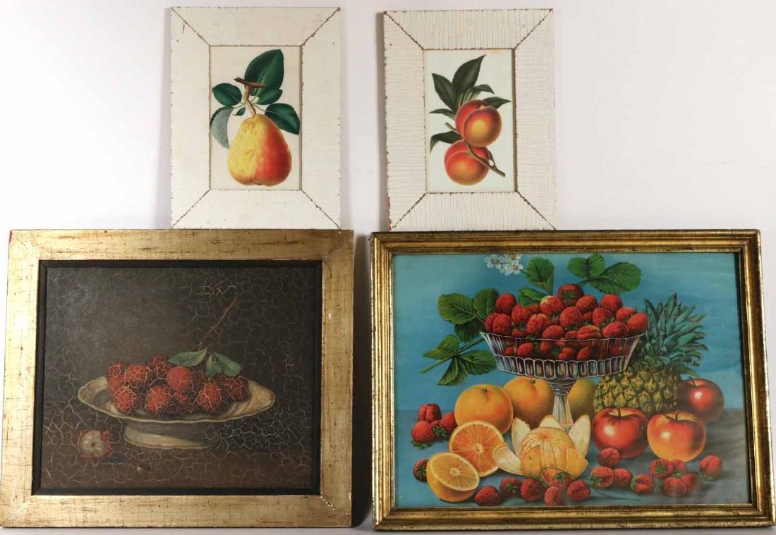 Oil on Masonite, Still Life of Fruit