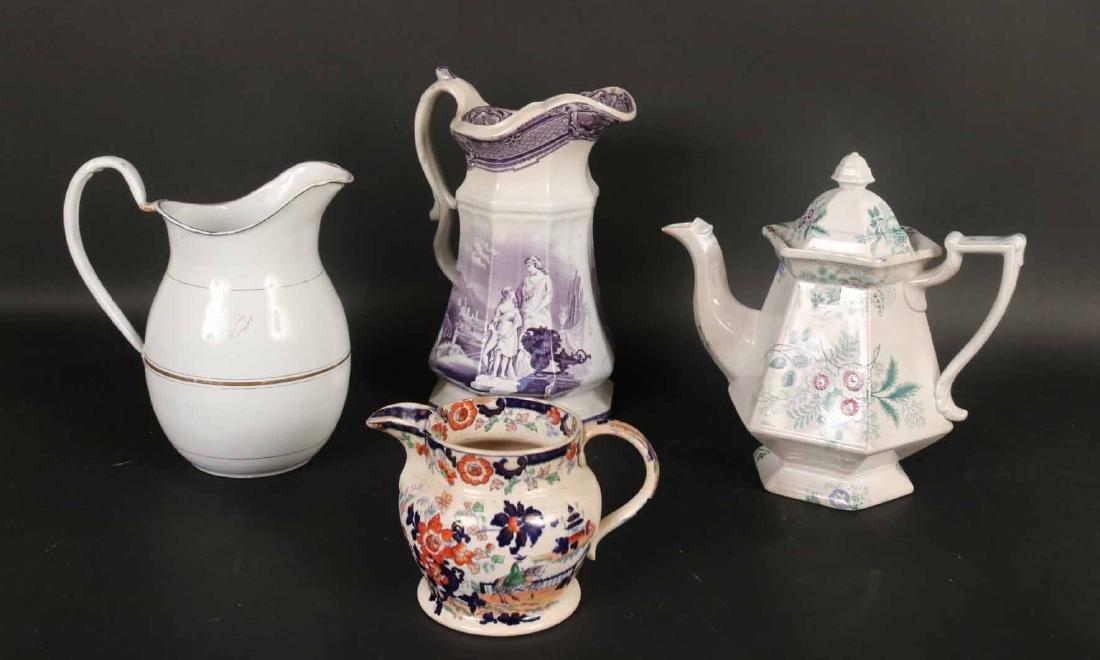 Three Porcelain Pitchers