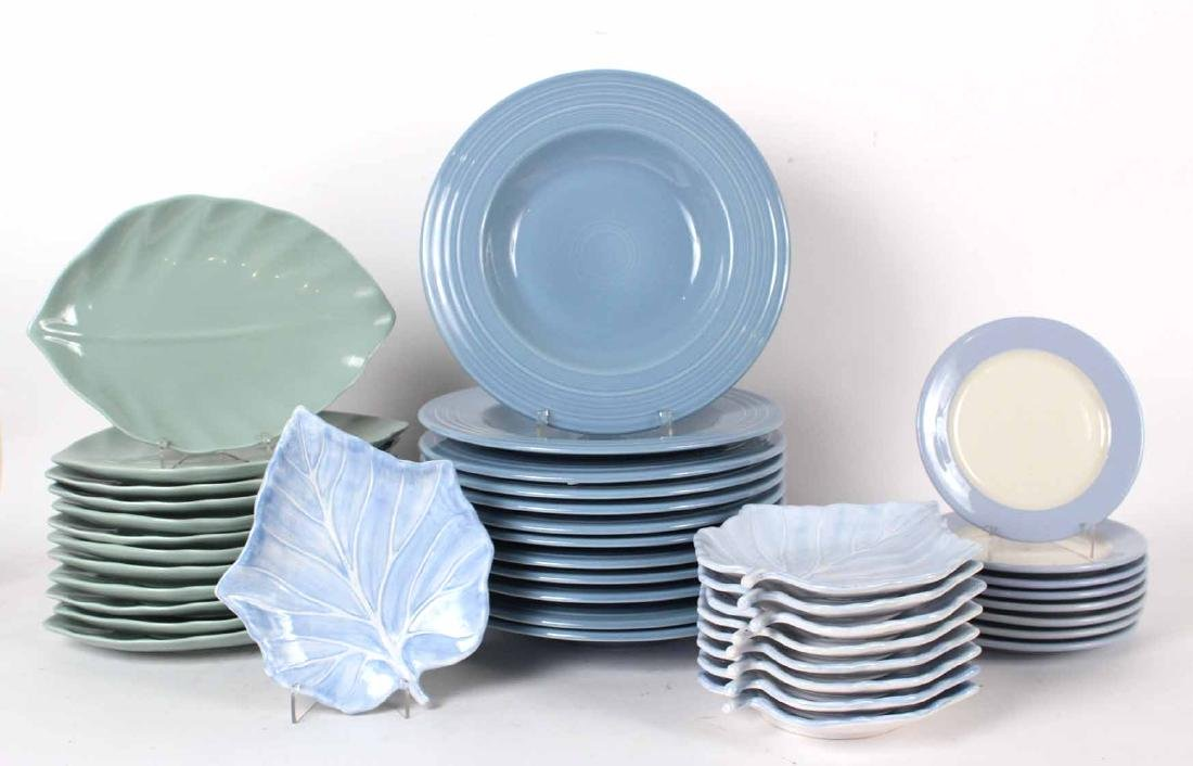 Twelve Fiesta Blue Ceramic Bowls