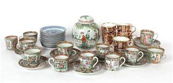 Chinese Porcelain Famille Rose Cups and Saucers