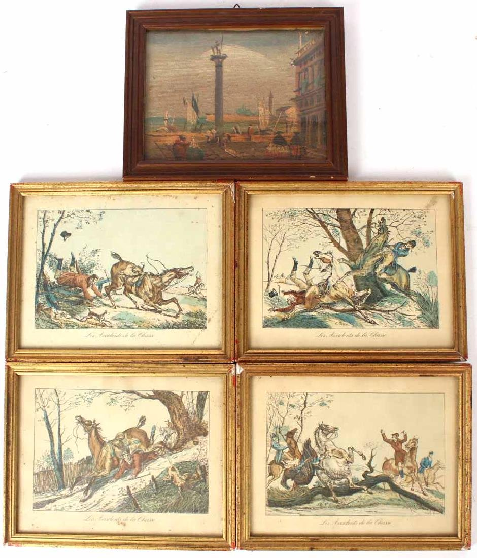 Four Hand-Colored Prints, G. Carle Vernet