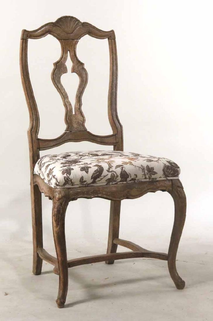 Rococo Walnut Shell-Carved Side Chair