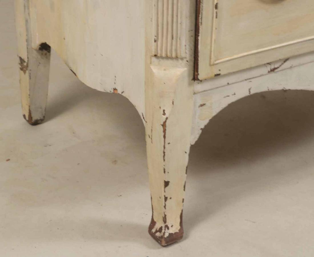 White-Painted Tall Chest of Drawers - 3
