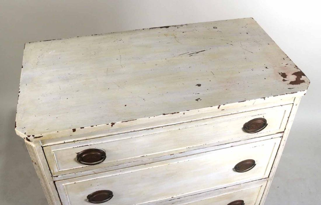 White-Painted Tall Chest of Drawers - 4