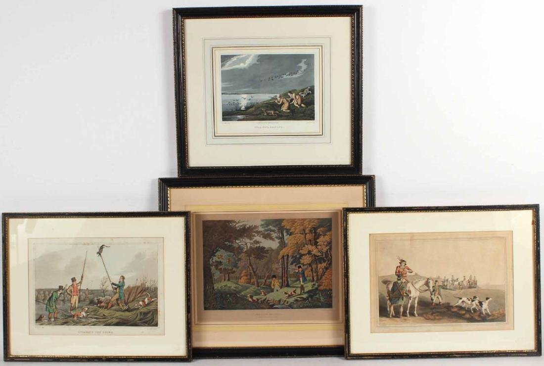 Four Colored Lithographs, Sporting Prints