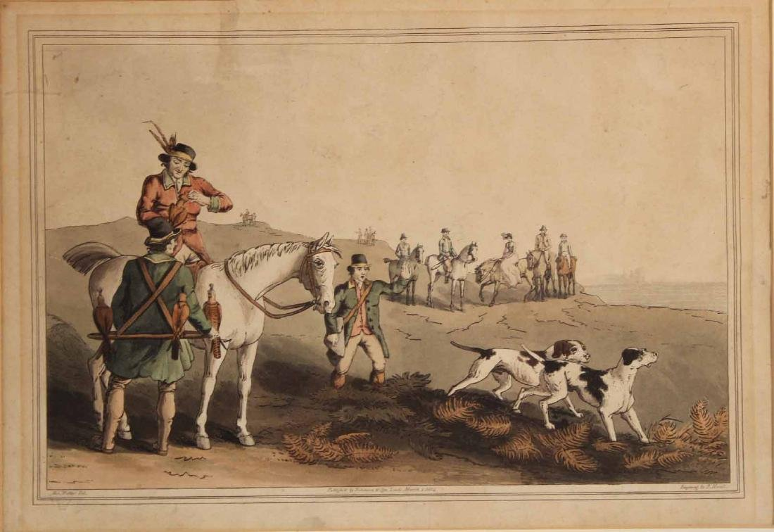 Four Colored Lithographs, Sporting Prints - 3